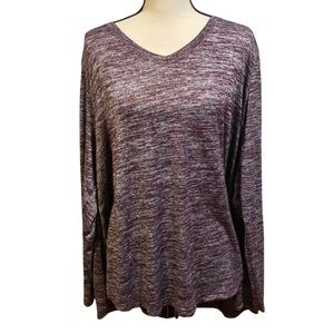 Aerie Gray Purple Stretchy Long Sleeve Sweater